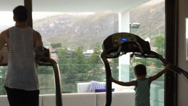 Lionel Messi and son Thiago workout together ahead of Barcelona's season