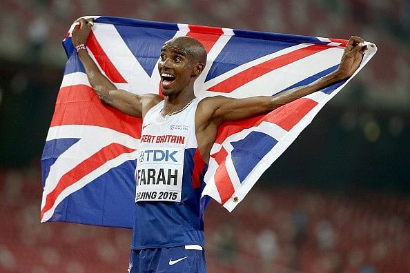 Mo Farah wins gold in the 10000m at the IAAF World Championships