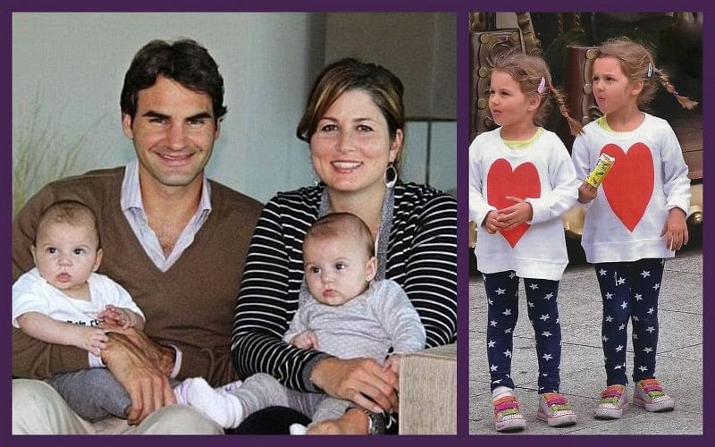 The Roger Federer twins: How cool would it be if they one day played doubles on the tour?