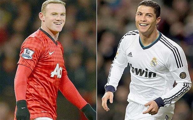 Wayne Rooney and Cristiano Ronaldo might be playing together once    Wayne Rooney And Cristiano Ronaldo Fight