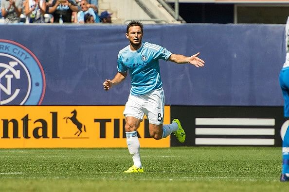 Video: Former Chelsea midfielder Frank Lampard scores his first goal for New York City FC