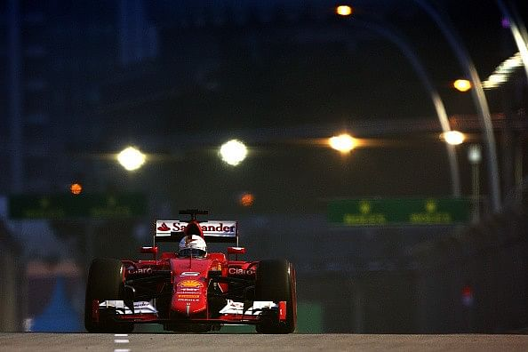 Singapore Grand Prix Qualifying Report: Ferrari's Sebastian Vettel on pole, Mercedes in P5