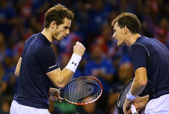 Andy and Jamie Murray win Davis Cup semifinal thriller