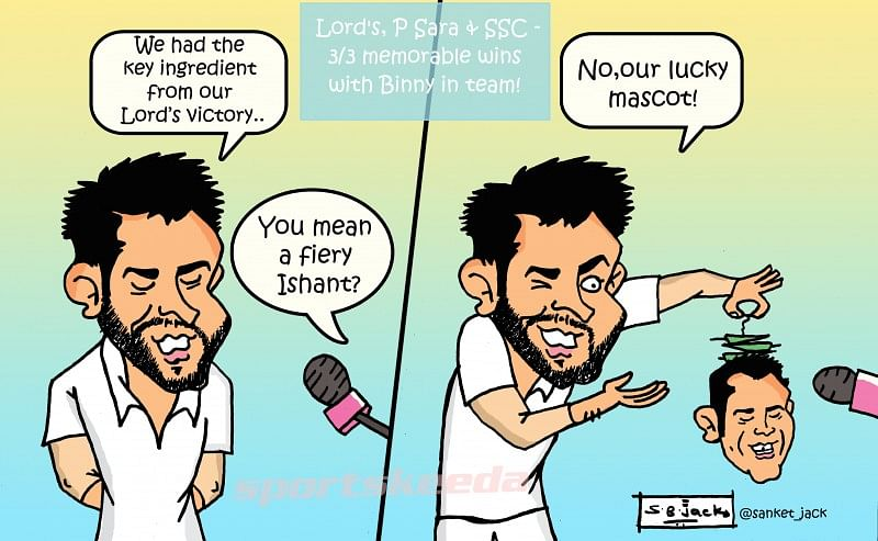 Comic: Team India's lucky mascot!