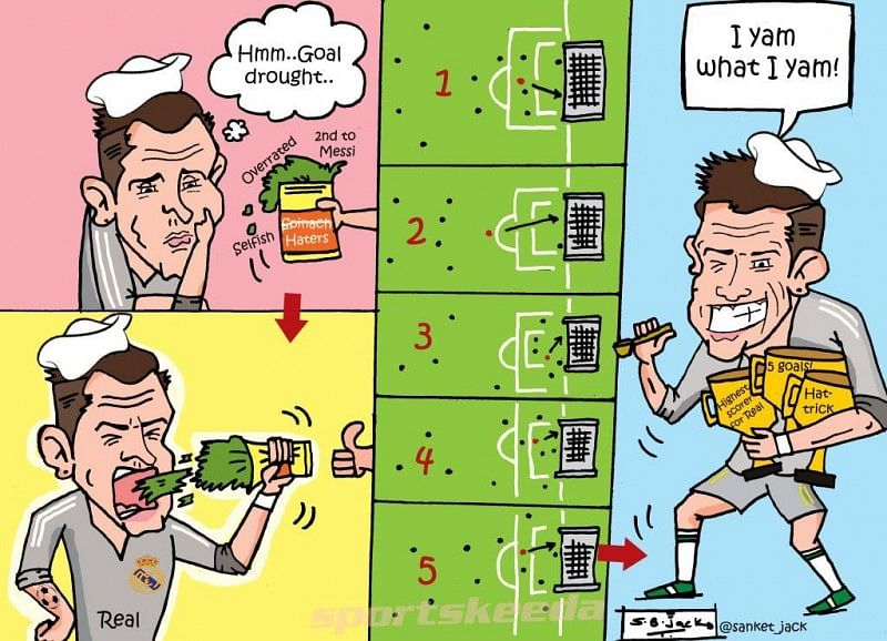 Comic: Ronaldo ended his mini goal drought in style to prove a point to his haters
