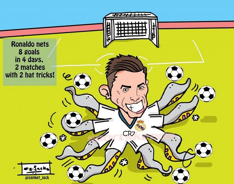 Comic: Ronaldo's scored 8 goals in 2 games for Real Madrid!