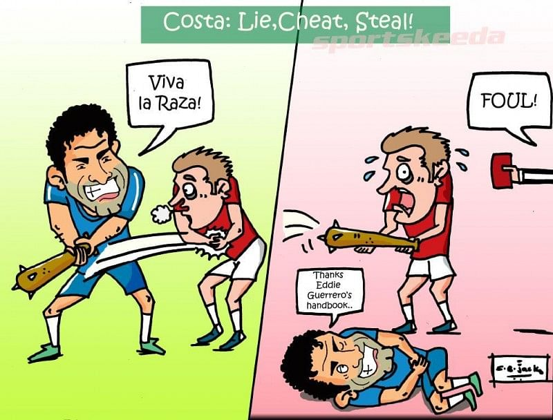 Comic: Diego Costa - Lie, cheat and steal!