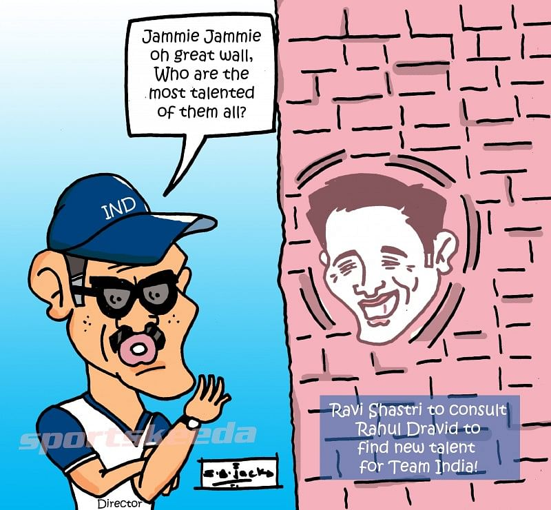 Comic: Ravi Shastri to take Rahul Dravid's help to find new talent