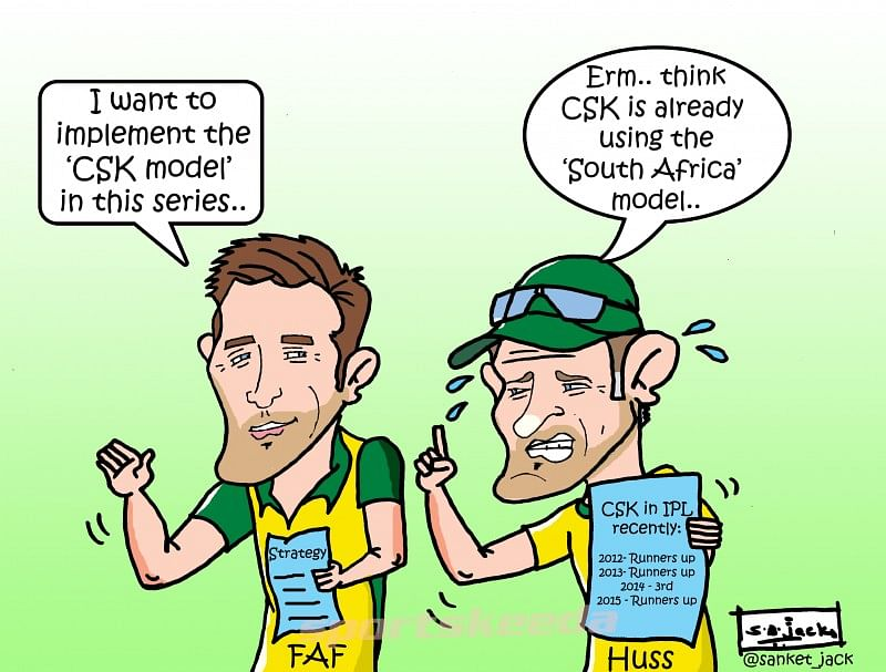 Comic: Faf du Plessis wants to apply 'CSK Model' in the upcoming series