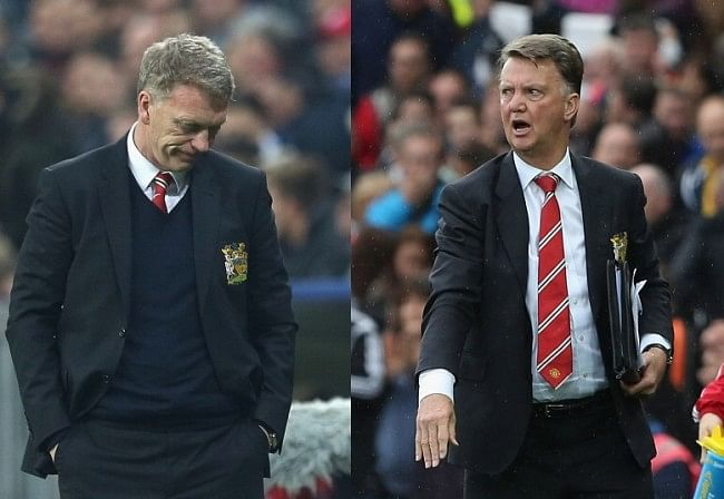 Comparing Louis van Gaal and David Moyes after 50 matches in charge at Manchester United