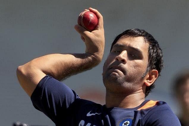 ODI captain MS Dhoni bowls to Test captain Virat Kohli in nets