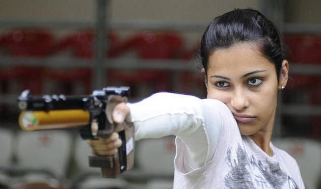 2015 Asian Airgun Championships: Heena Sidhu and Shweta Singh win the gold and silver medal in the 10m Air Pistol event