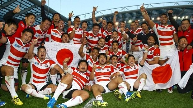 Japan pull off biggest upset in rugby world cup history, beating South Africa in injury time