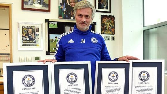 Chelsea boss Jose Mourinho now has four Guinness World Records to his name