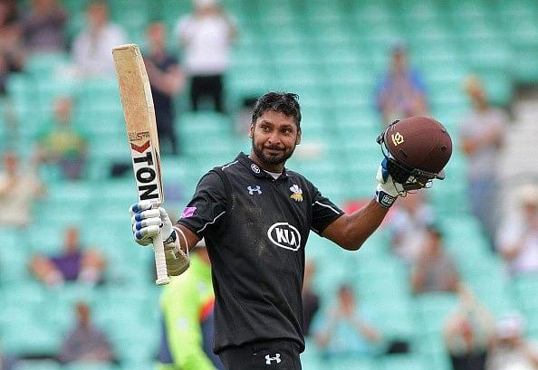 Kumar Sangakkara smashes 166 for Surrey in Royal London One-Day Cup semi-final match