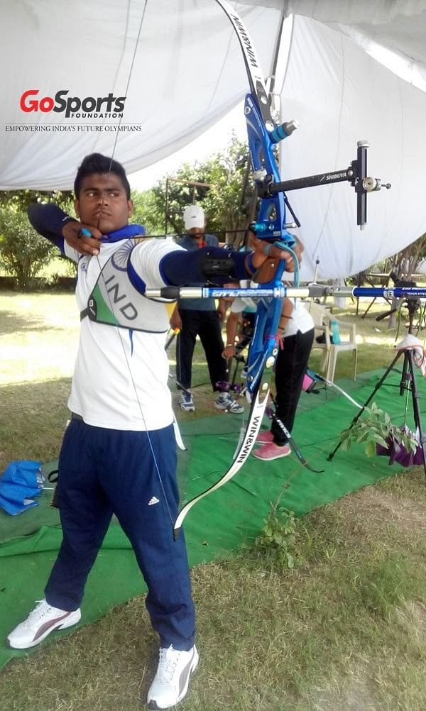 Archer Nishant Kumawat wins silver medal at the 2015 Commonwealth Youth Games