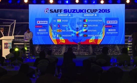 SAFF Suzuki Cup 2015 draw announced; India to play Pakistan in group stages