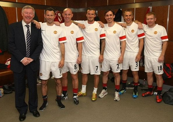 The Class of 92 reunite at Old Trafford for UNICEF match against Zidane's team