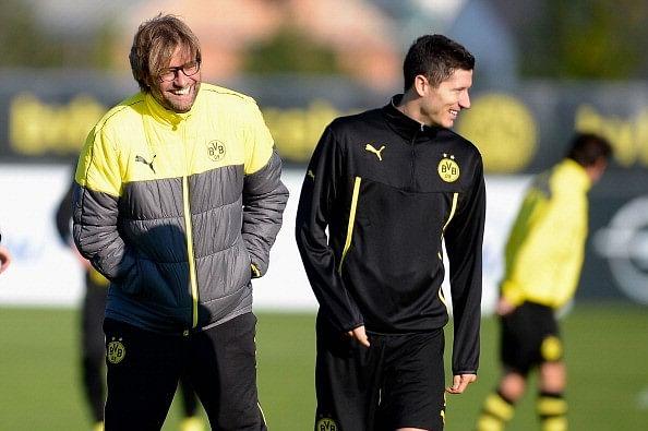 Jurgen Klopp hints at teaming up with Bayern Munich striker Robert Lewandowski at Liverpool