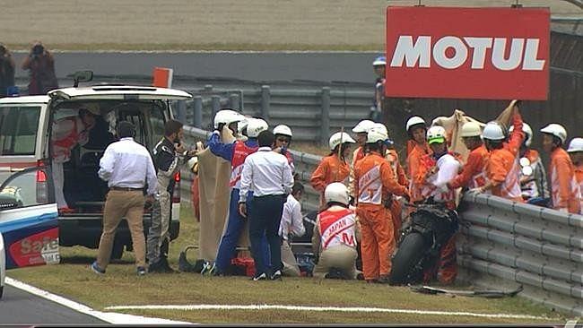 MotoGP rider Alex de Angelis injured in crash at Japanese Grand Prix practice