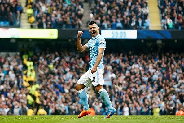 Pellegrini claims Aguero is right there on top along with Messi and Ronaldo