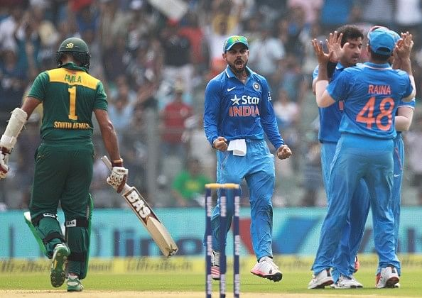 Best Images from India South Africa 5th ODI: Shock on Indian faces, Rahane's muddied jersey, flood of legends