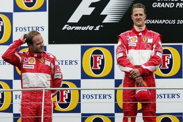 Rubens Barichello Michael Schumacher 2015