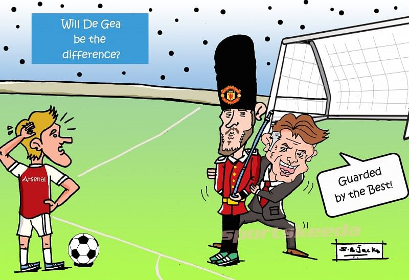 Comic: Will David De Gea be the difference when Arsenal take on Manchester United?