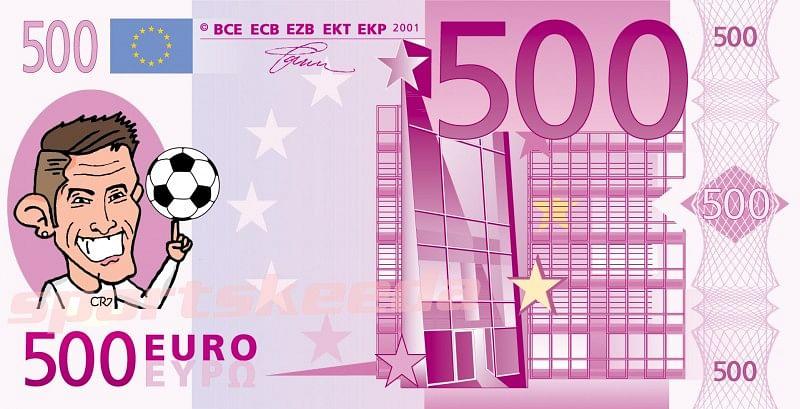 Comic: Cristiano Ronaldo scores his 500th career goal