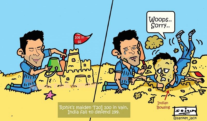 Comic: Rohit Sharma's 100 in vain as India fail to defend 199!