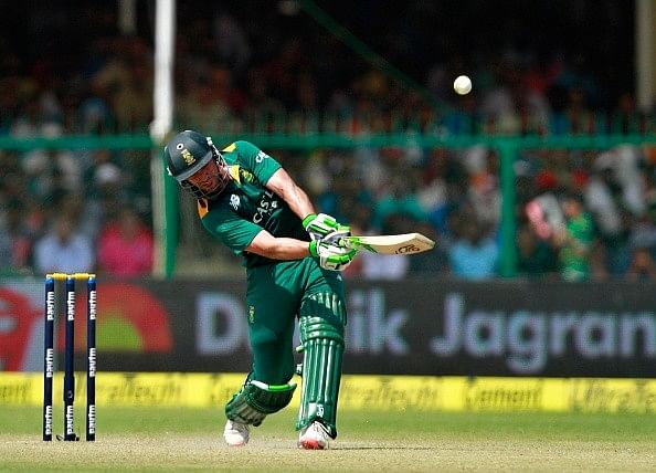 AB de Villiers - First batsman to hit 50 sixes in ODIs and 60 sixes in International cricket in a calendar year