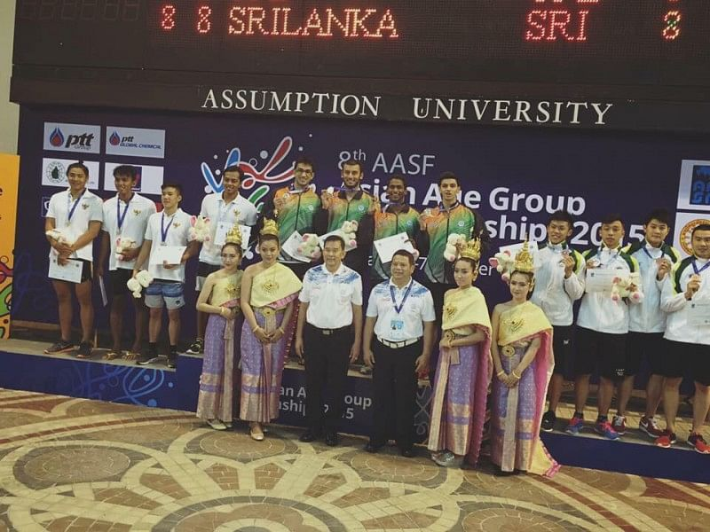 Exemplary Indian swimming team win gold medal at Asian Age Group Championship
