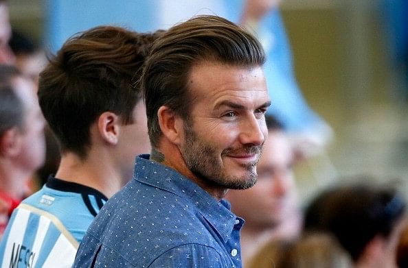Beckham makes a fool of himself after backing AC Milan for Champions league victory