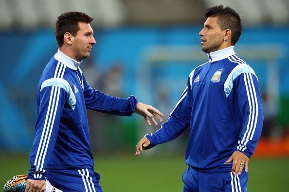Sergio Aguero has Lionel Messi's blessing to wear the No. 10 jersey during his absence