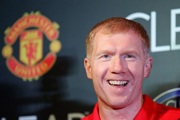 Video: 40-year-old Paul Scholes scores a stunning long-range goal for Premier League All Stars