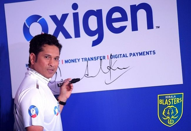 Oxigen Wallet joins ISL football fever by sponsoring Sachin Tendulkar�s Kerala Blasters FC
