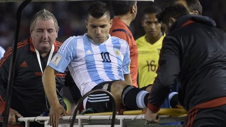 Manchester City striker Sergio Aguero could be out for eight weeks