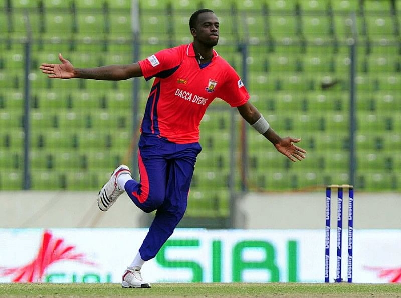 Kevin Cooper comes up with four wickets in last over to hand Barisal Bulls victory against Rangpur Riders