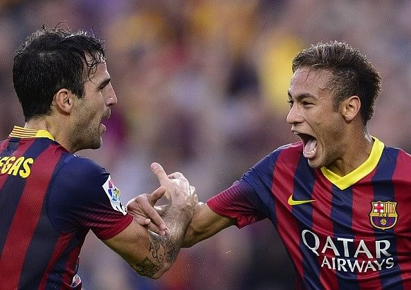 Cesc Fabregas believes Neymar is the heir to Messi's throne at Barcelona