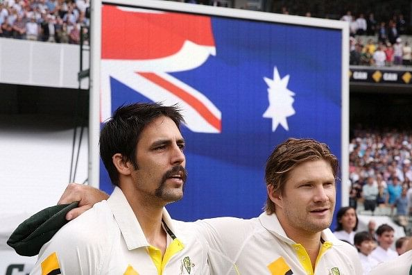Shane Watson breaks into tears after hearing about Mitchell Johnson's retirement