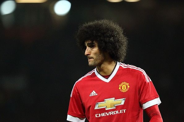 Marouane Fellaini receives a nine-month ban from driving after speeding twice in six minutes