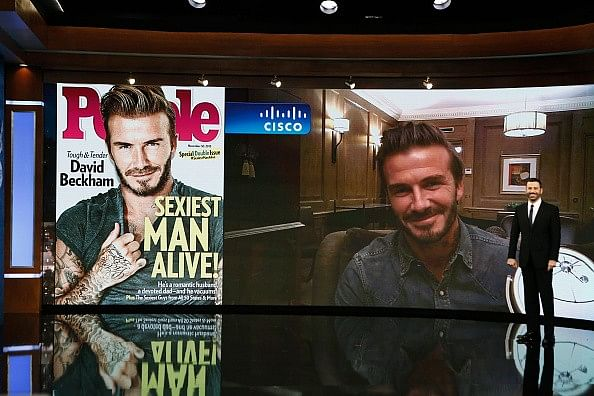 David Beckham voted 'Sexiest Man Alive' by People magazine