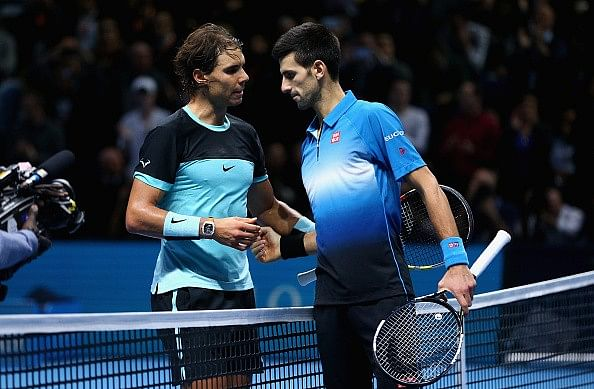 Novak Djokovic in finals of ATP World Tour Finals, beats Nadal in straight sets