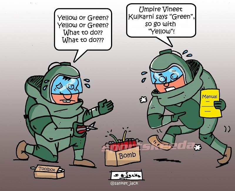 Comic: The correct decision - Umpire Vineet Kulkarni