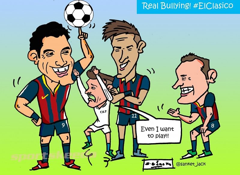 Comic: Real Madrid were bullied by a Barcelona trio