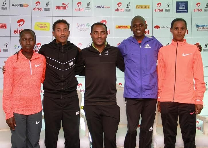 World record holders Zersenay Tadese and Florence Kiplagat look to best own records at ADHM 2015