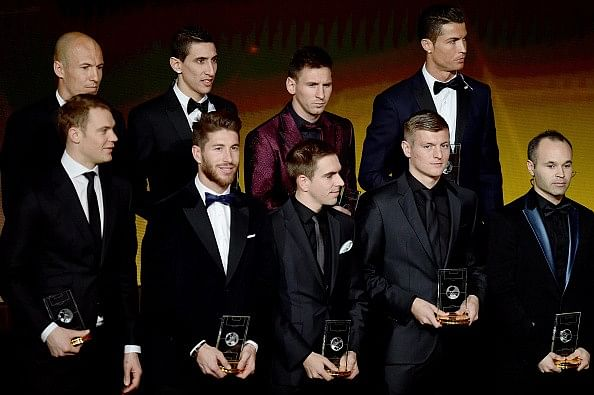 55-man shortlist announced for 2015 FIFPro World XI