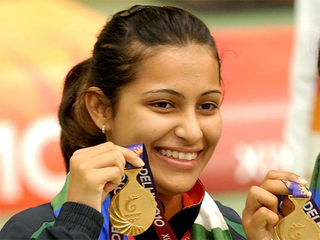 Heena Sidhu wins the gold in the 10m Air Pistol event at the Asian Shooting Championships