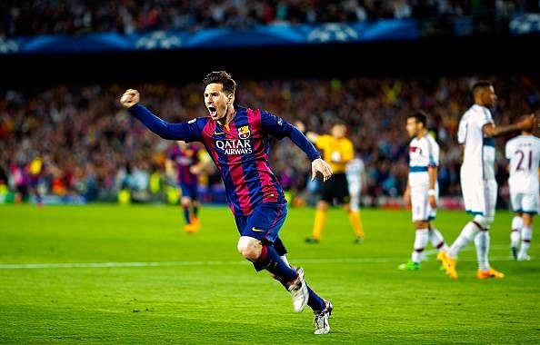 Most league goals scored in a season:50 goals in 37 appearances - 5 Lionel Messi records which won