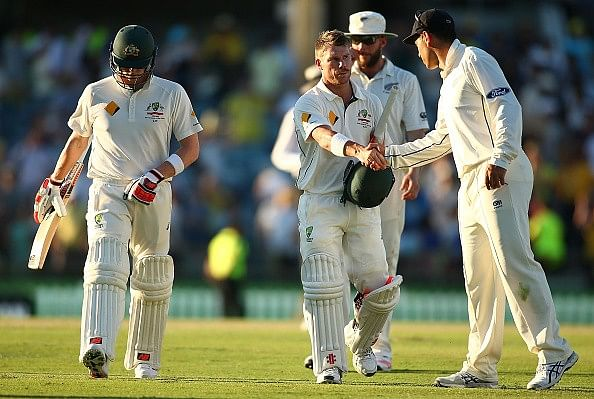 David Warner reacts to the controversy surrounding the Ross Taylor gesture